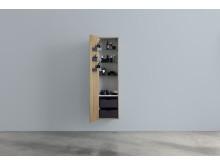 Aspen A Högskåp 400x1600 mm med hyllor, lådor och dörrfack