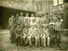 Arbeiderne ved mølla i juni 1930