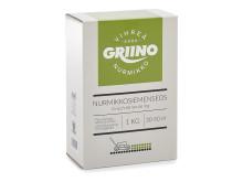 Griino Vihreä-Grön -yleisnurmikkoseoksen kotipihoihin ja viheralueille käytännöllisissä ja ekologisissa pahvikartonkipakkauksissa.