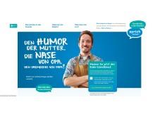 FARKOR: Screenshot der Projektwebsite www.darmkrebs-in-der-familie.de