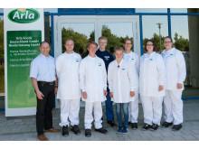 Fachkräftenachwuchs für Arla Standort Upahl_2015