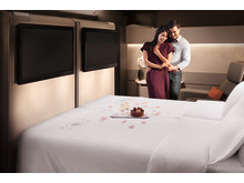 Singapore Airlines A380 Suite double bed