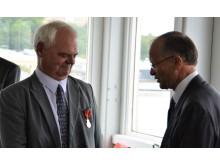 Svein Grønnern tildelt Kongens fortjenstmedalje