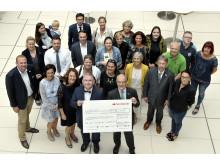 Spendenübergabe Santander-Woche