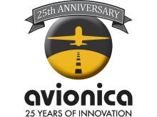 Image - Avionica 25th anniversary logo