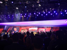 Tom K præsenterede den nye Audi R8 på Geneva Motor Show 2015