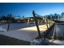 Bild 3. Kyrkparken, gång- och cykelbro i Barkarby