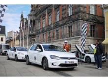Vinnaren av Öresund Electric Car Rally 2015 går i mål på Stortorget