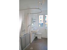 Duschpflegetür eingeklappt