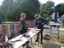 Malerarbeiten auf dem Hof-Garten