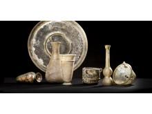 Romerskt glas från 200-400 e.Kr.