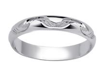 Mønstret giftering i hvitt gull 3998,- BGF252