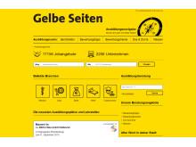 Screenshot: ausbildung.gelbeseiten.de