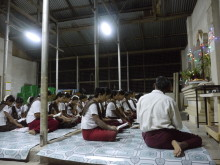 Scene at a religious service in the meeting area.JPG