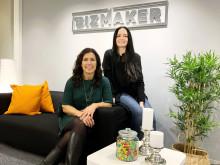 Eva Nyh Hederberg, vd och Helene Ivares, kommunikationschef på BizMaker