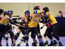 Stockholm Allstars vs Tampa Roller Derby i Beach Brawl 2014