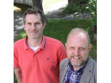 Anders Andersson och Henrik Aspeborg, forskare på KTH. Foto: Christer Gummeson.