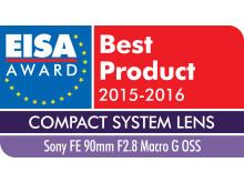 EISA 2015 Logo FE 90mm F2.8 Macro