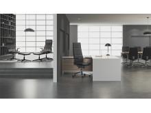 Collection S består av arbetsstolar, fåtöljer och mötesstolar med en mängd olika funktioner.