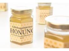 GöteborgsOperans egen honung från biodlingen på GöteborgsOperans tak. Foto: Tilo Stengel.