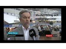 Medieträning och medierelationer genom Hans Uhrus..