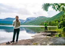 Unger som fisker på Hamarøy
