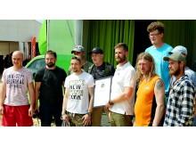 Alfa skogsservice, Jönköping, vann Silviculture award som bästa företag inom skogsvård