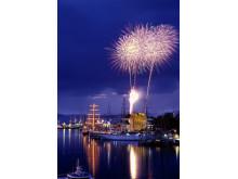 Feuerwerk zum Tall Ship Race in Bergen