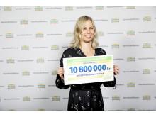 Generalsekreterare Annika Billing på Postkodlotteriets förmånstagarfest 2019