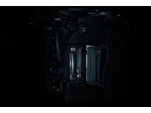 Pentax K-1, hjälpljus kortplatser