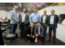Carmen Quinders, at the front, with the delegation from the Netherlands during Subcontractor Connect.