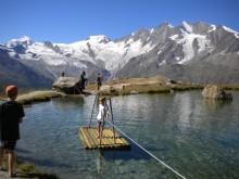 Wellness- und Genussweg auf der Alp Kreuzboden in Saas Fee (Wallis)