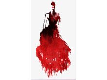 Bild: Illustration av Stina Wirsén, Alexander McQueen, Savage Beauty