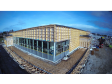 Lidl i Visby under uppbyggnad