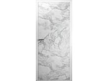 Innerdörr med marmoreffekt - BIANCO