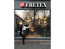 Nina Jarebrink ønsker velkommen til Fretex!