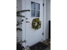 Dörrkrans med batteri & timer på dörr