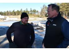 Andreas Johansson and Geno's Lars Skramstad