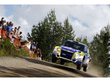 Patrik Sandell och Emil Axelsson slutade trea i Finland