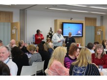 CHRISTMAS Cheer: Staff raised £300 for charity with a meal and quiz
