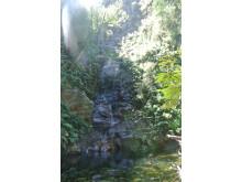 Mysigt vattenfall i närheten av Plettenberg Bay