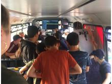 Hyresgästföreningen på turné med Hiphopbussen1