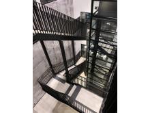 Trappuppgång och hiss
