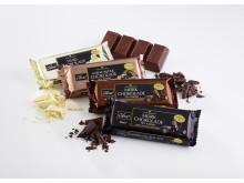 Odense Marcipans udvalg af lækker blokchokolade