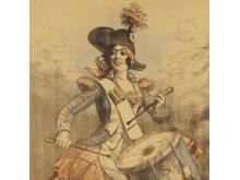 Sälja krig som margarin. Fransk affisch från 1917. Kungliga biblioteket.