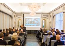 Nina Jensen, generalsekretær i WWF Norge, holder innlegg på LOS Energy Day
