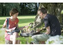 Schackspel i pråstgårdsparken