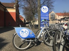 Nextbike-Station in Potsdam am Filmmuseum
