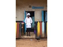 Theresa - entreprenör i Kenya utbildad av Hand in Hand