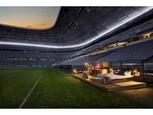 Audi og Airbnb laver midlertidigt hjem på sidelinjen af Allianz Arena
